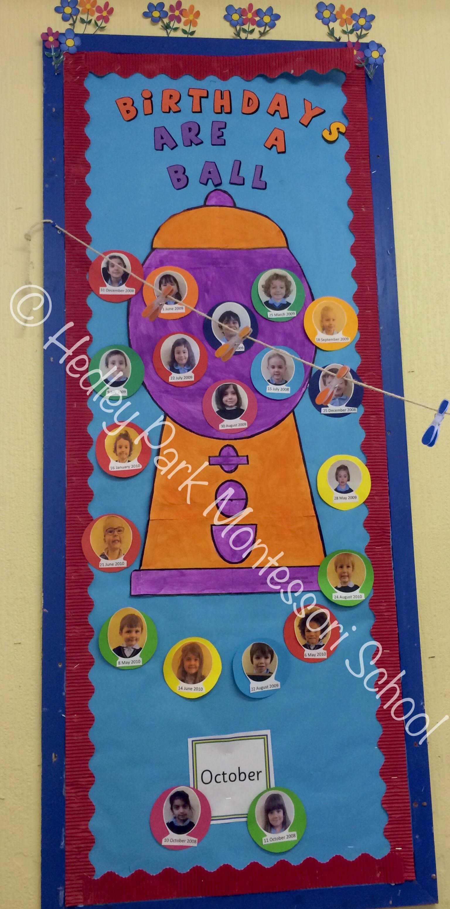 Junior Class - Birthday Board