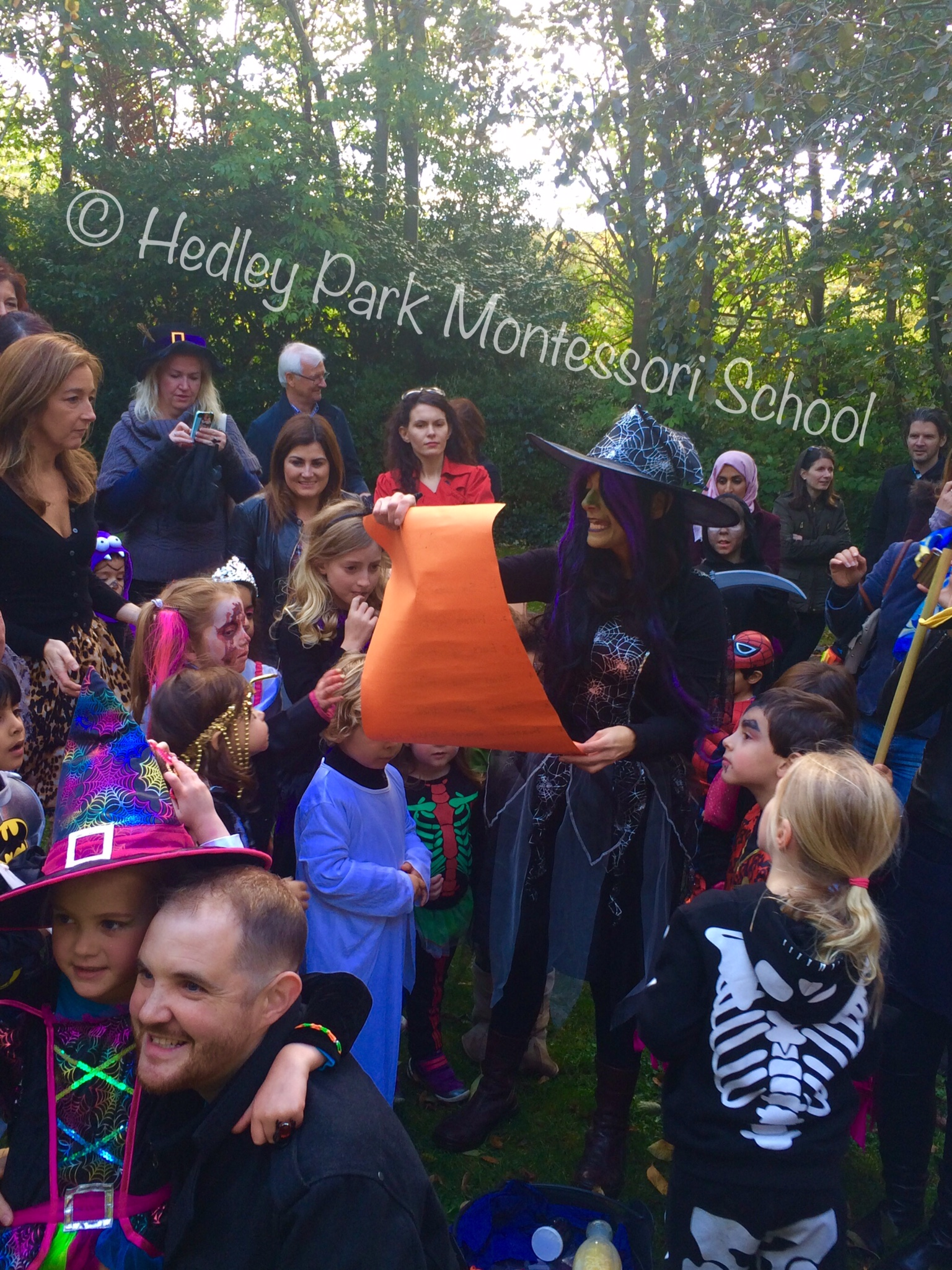 Witches Walk 2014  - the Witch reads her list